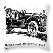 Automobile Cartoon, 1914 Throw Pillow
