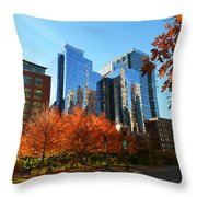 Autumn In Boston Throw Pillow