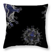 Avian Influenza Virus H5n1 Throw Pillow
