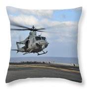 Aviation Boatswains Mate Directs Throw Pillow