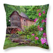 Babcock State Park Throw Pillow