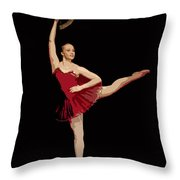Ballerina Warhol Style Throw Pillow