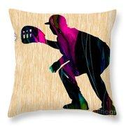 Baseball Catcher Throw Pillow