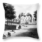Battle Of Germantown, 1777 Throw Pillow