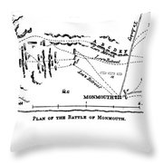 Battle Of Monmouth, 1778 Throw Pillow