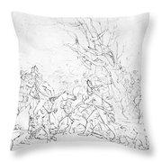 Battle Of Princeton, 1777 Throw Pillow