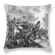 Battle Of Stony Point, 1779 Throw Pillow