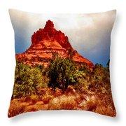 Bell Rock Vortex Painting Throw Pillow
