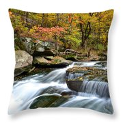 Berea Falls Throw Pillow by Frozen in Time Fine Art Photography