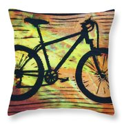 Bike 10 Throw Pillow by William Cauthern