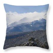 Blizzard Peak Throw Pillow