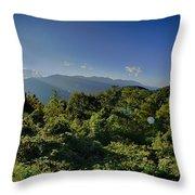 Blue Ridge Parkway National Park Sunset Scenic Mountains Summer  Throw Pillow