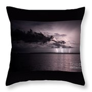 4 Bolts Over Captiva Island Throw Pillow