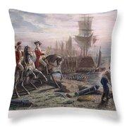 Boston: Evacuation, 1776 Throw Pillow