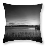 Bridge Of Lions St Augustine Florida Painted Bw Throw Pillow