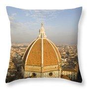 Brunelleschi's Dome At The Basilica Di Santa Maria Del Fiore Throw Pillow