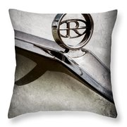 Buick Riviera Hood Ornament  Throw Pillow