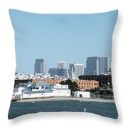 Buildings At The Waterfront, San Throw Pillow