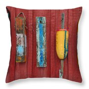 Buoys At Rockport Motif Number One Lobster Shack Maritime Throw Pillow