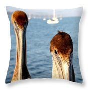 California Pelicans Throw Pillow