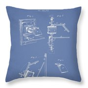 Camera Obscura Patent Drawing From 1881 Throw Pillow by Aged Pixel