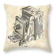 Camera Patent 1887 - Vintage Throw Pillow