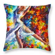 Candle Fire Throw Pillow