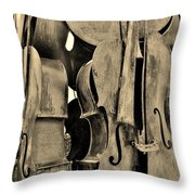 4 Cellos Sepia Throw Pillow