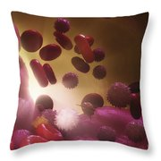 Cells Of The Immune System Throw Pillow
