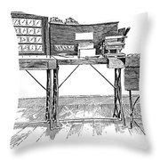 Census Machine, 1890 Throw Pillow