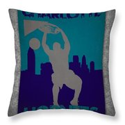 Charlotte Hornets Throw Pillow