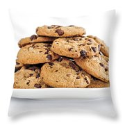 Chocolate Chip Cookies Throw Pillow by Elena Elisseeva