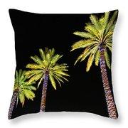 4 Christmas Palms Throw Pillow