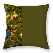 Christmas Tree Ornaments Throw Pillow