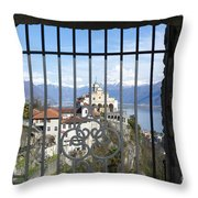 Church Madonna Del Sasso Throw Pillow