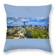 City At The Waterfront, Lake Michigan Throw Pillow