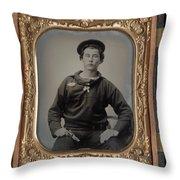 Civil War Sailor, C1863 Throw Pillow