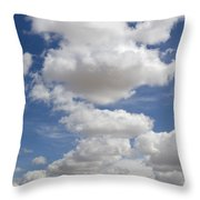 Clouds And Field Throw Pillow