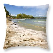 Coast Of Pacific Ocean On Vancouver Island Throw Pillow