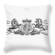 Coat Of Arms Great Britain Throw Pillow