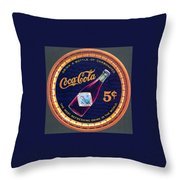 Coca - Cola Vintage Poster Throw Pillow