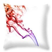 Colourful Smoke Throw Pillow