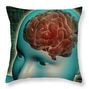 Conceptual Image Of Female Body Throw Pillow