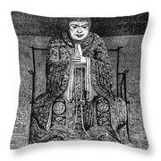 Confucius (c551-479 B Throw Pillow