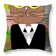 Cool Cat Throw Pillow