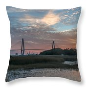 Charleston Cooper River Bridge Throw Pillow