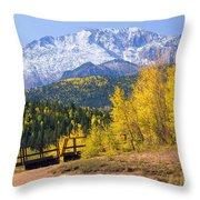 Crystal Lake On Pikes Peak Throw Pillow