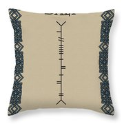 Daly Written In Ogham Throw Pillow