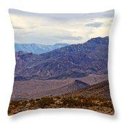 Death Valley Mountains Throw Pillow