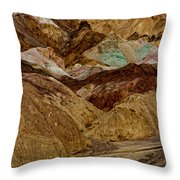 Death Valley Painted Rock Throw Pillow